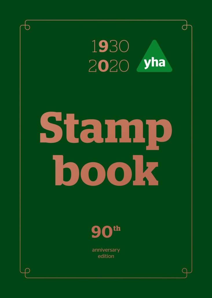 YHA Stamp book front cover