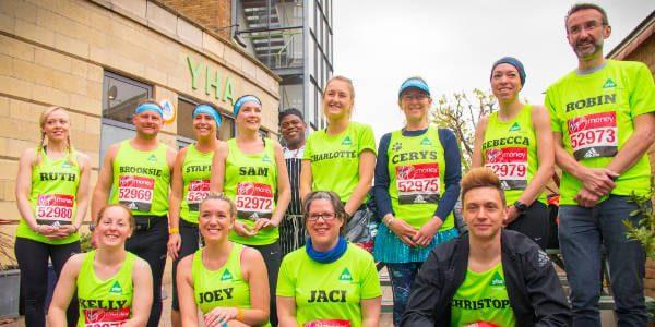YHA runners at the London Marathon