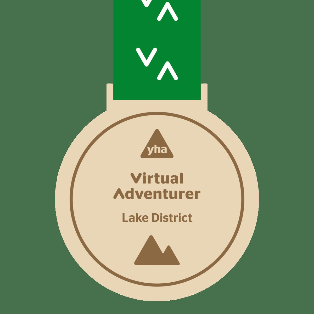 YHA Virtual Adventurer: Lake District medal